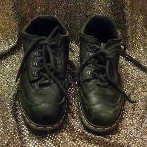 Dr. Doc Martens black steel toe safety shoe 9